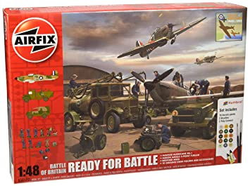 Airfix - Ai50172 - Coffret Cadeau - Bataille D'Angleterre - Ready For Battle - 443 Pièces - Échelle 1/48