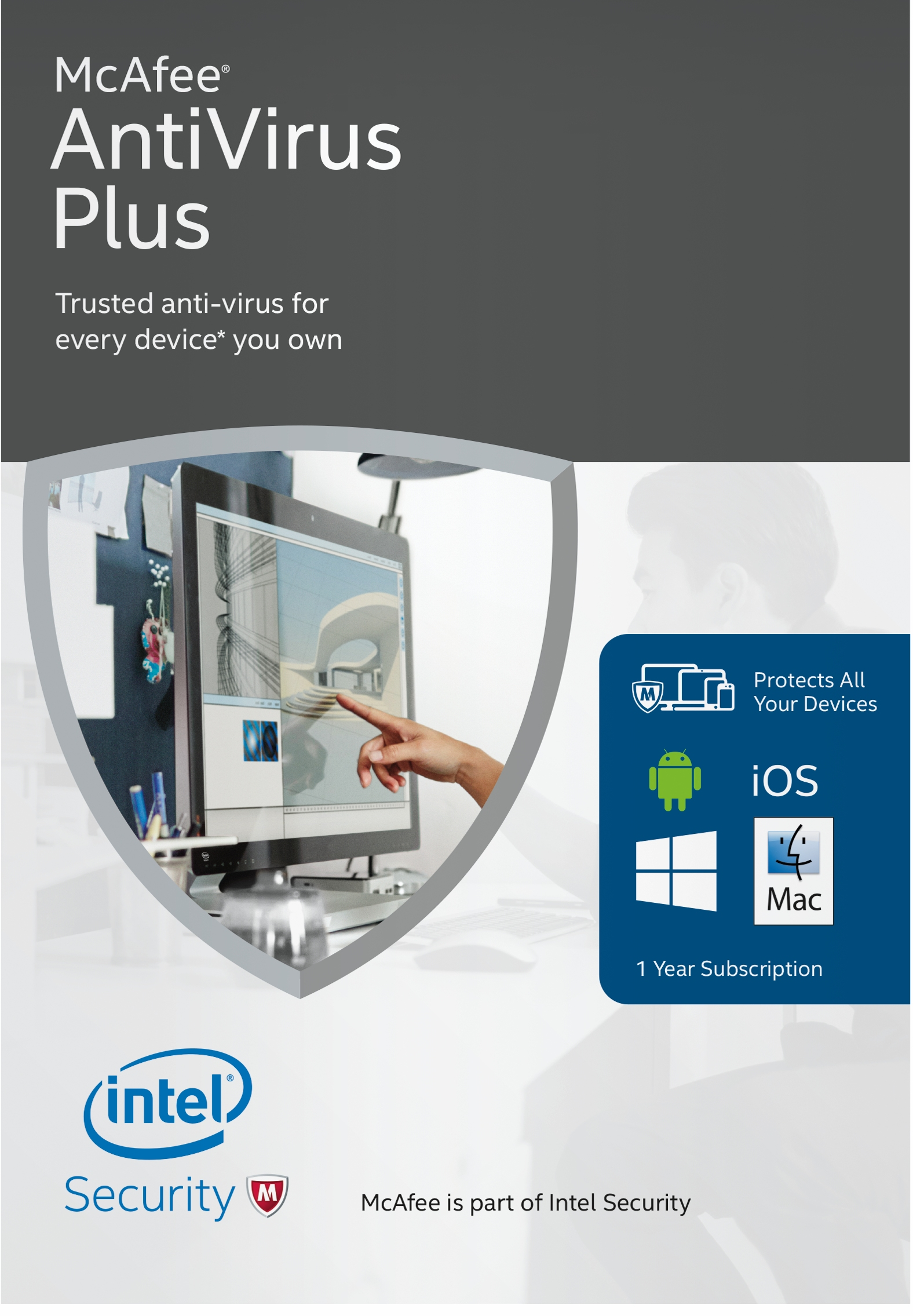 McAfee 2016 AntiVirus Plus - Unlimited Device [Online Code]