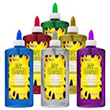My Slime 6 Color Premium Glitter Glue Pack (8 Ounce Bottles) - Red, Green, Blue, Gold, Purple, Silver - Kid Safe, Non-Toxic, Washable - Superior Formula School Glue for Making Amazing Fun Slime Art (Tamaño: 6 Color - Glitter Set)