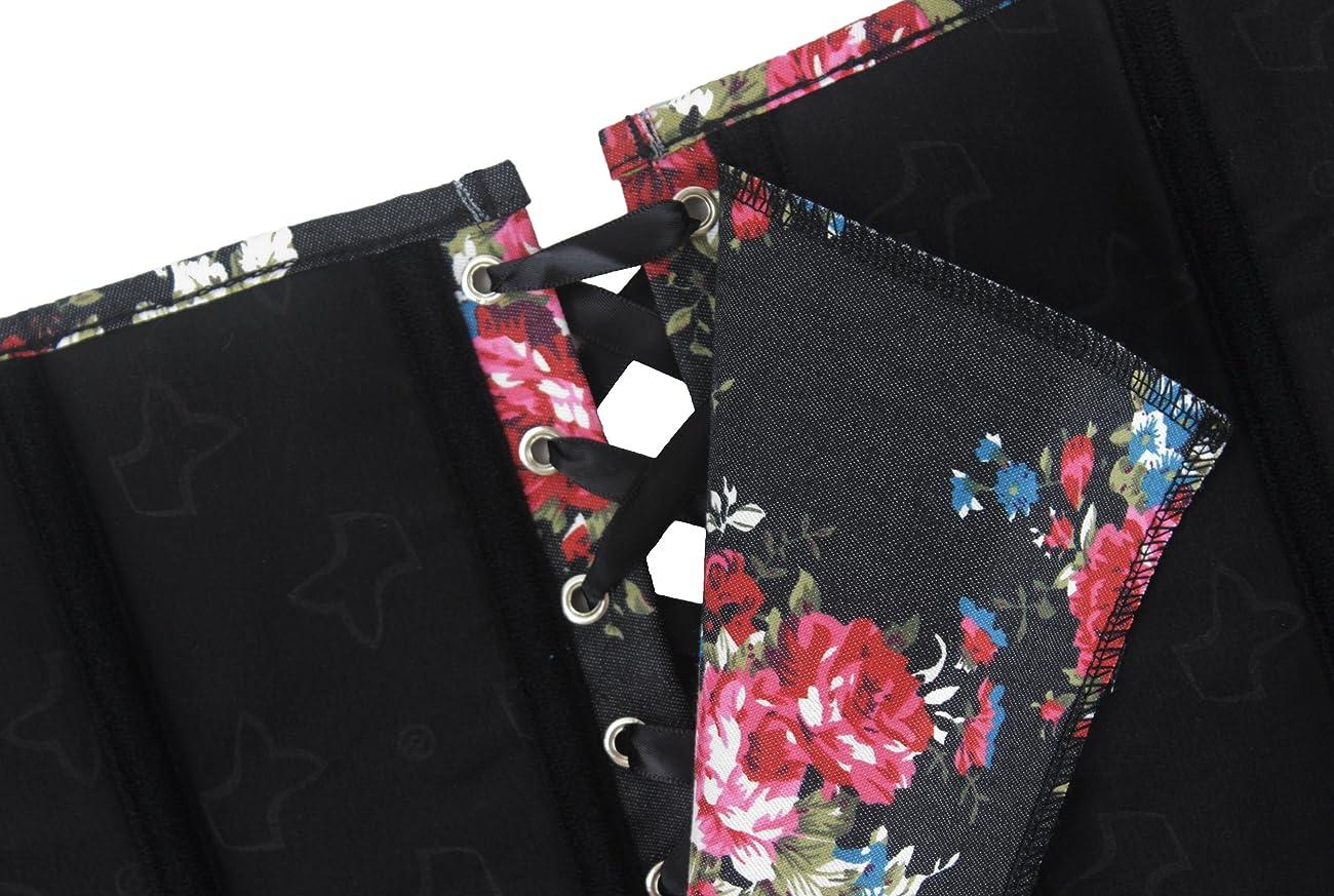 Alivila.Y Fashion Corset Women's Vintage Floral Denim Corset Bustier 2