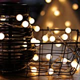 LED String Lights, by myCozyLite, Plug in String Lights, 49Ft 100 LED Warm White Globe lights with Timer, Waterproof, Perfect for Indoor and Outdoor Use with 30V Low Voltage Transformer, Extendable (Color: Warm White, Tamaño: LED Globe String Lights Pack)