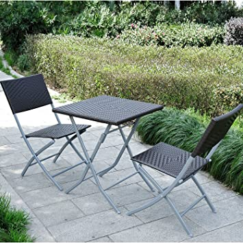 poly rattan 3 tlg bistro set balkonset balkonm bel garnitur neu us210. Black Bedroom Furniture Sets. Home Design Ideas