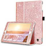 iPad Air 2 Case, iPad Air / 9.7 Case, DUEDUE Sparkly Glitter Bling PU Leather Folio Stand Smart Cover Auto Sleep/Wake Protective Case for Apple iPad 6th / 5th Gen 9.7 Inch, iPad Air 1 2, Rose Gold (Color: 10092-Rose Gold, Tamaño: 9.7 Inch)