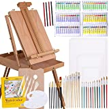 WA Portman Professional Painting and Art Supplies - 121 pc Artist Paint Tools Set - Field Easel with Storage - Canvases and Pad - Acrylic Oil Watercolor Paint Sets - Brush Sets Painting Kit and More (Tamaño: 121 Piece Painting Set)