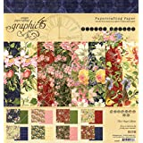 Graphic 45 Floral Shoppe 8x8 Pad (4501697) (Color: Red, Blue, Green, Pink)