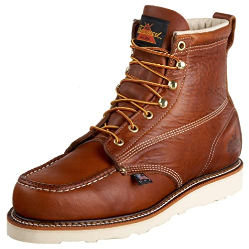 "Thorogood 814-4200 American Heritage 6"" Moc Toe Boot, Tobacco, 10.5 D US"