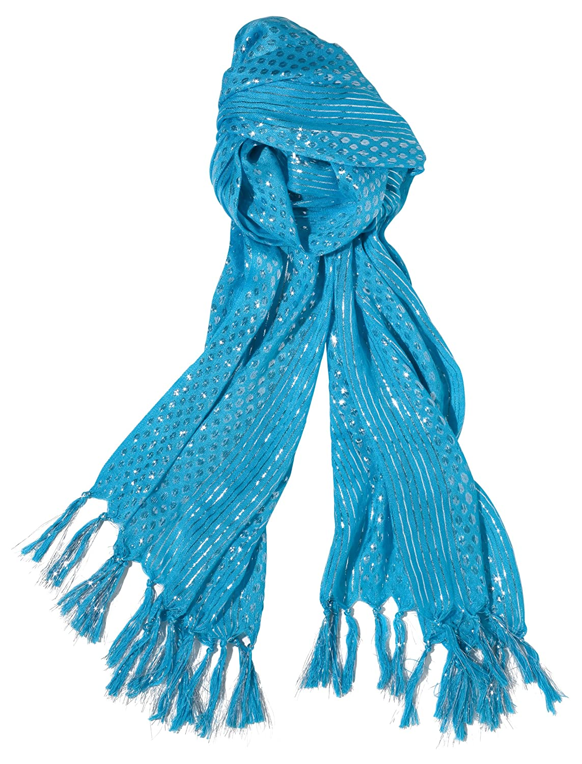 Three Cheers for Girls Turquoise Sparkle Scarf
