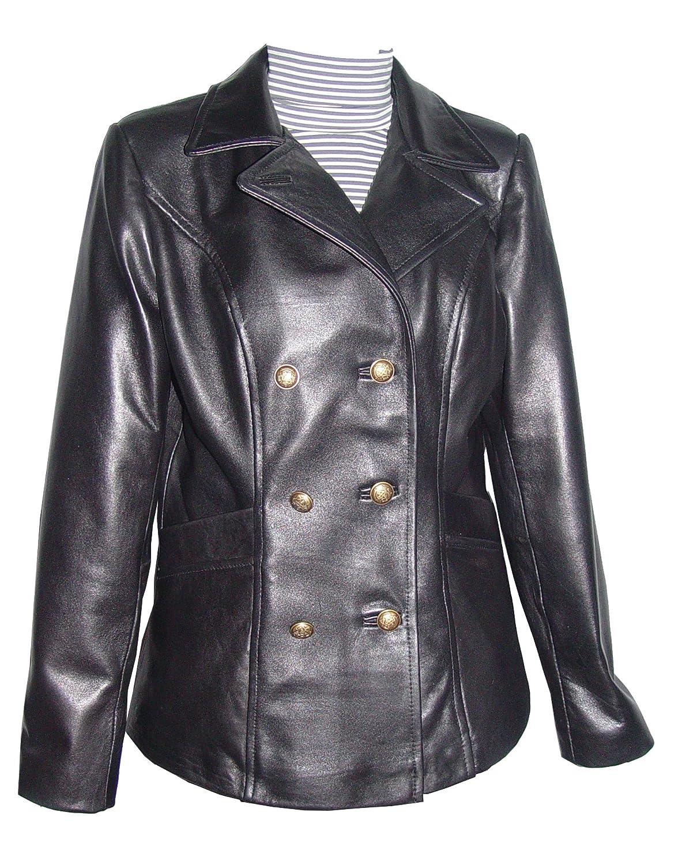 Paccilo GRATIS SchneidereiWoHerren 4101db einfach Grund Lamm Leder lange Blazer