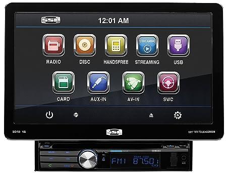 "Sound Storm Laboratories SD101B Soundstorm Single Din 10.1"" Detachable Receiver Bluetooth DVD/CD Remote"