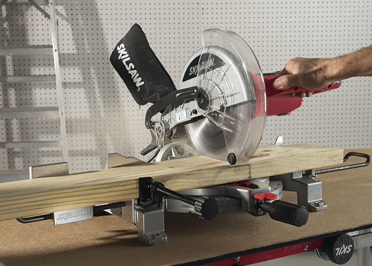 SKIL 3317-01 10-Inch Compound Miter Saw with Quick Mount System and Laser Cutline