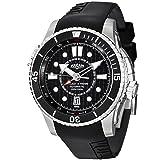 Vulcain Cricket X-TREME Men's Black Rubber Strap Automatic Alarm Watch 211931.201RF