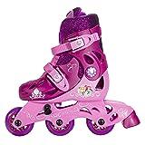 PlayWheels Disney Princess Glitter Kids Convertible 2-in-1 Skates - Junior Size 6-9