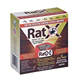 EcoClear Products 620104, RatX All-Natural Non-Toxic Humane Rat and Mouse Killer Pellets, Ready-To-Use Pre-Measured 3 oz. Bait Trays, 2-Pack (Color: White, Tamaño: 3 oz. Bait Trays, 2-Pack)