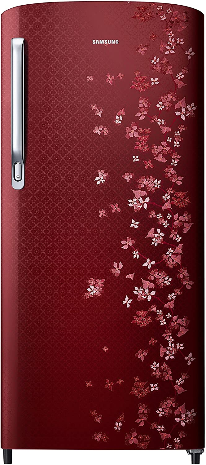 Upto 25% OFF + No Cost EMI + Exchange Offers Refrigerators By Amazon | Samsung RR19M1723RY Direct-cool Single-door Refrigerator (192 Ltrs, 3 Star Rating, Sanganeri Ring Red) @ Rs.11,990