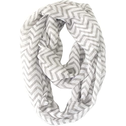 Vivian & Vincent Soft Light Weight Zig Zag Chevron Sheer Infinity Scarf
