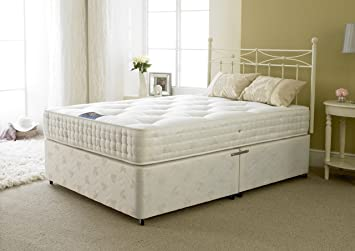 Comfy Beds Small Double Jubilee Divan with 2 Left Drawers, 4 ft, White