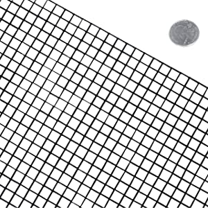 Fencer Wire 16 Gauge Black Vinyl Coated Welded Wire Mesh Size 0.5 inch by 0.5 inch (4 ft. x 50 ft.) (Tamaño: 4 ft. x 50 ft.)