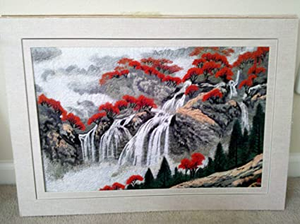 Forest Waterfall Drawing Forest Chinese Drawing