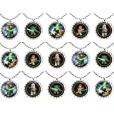 15 STAR WARS Flat Bottle Cap Necklaces for Birthday, Party Favors, Bag Fillers Set 2