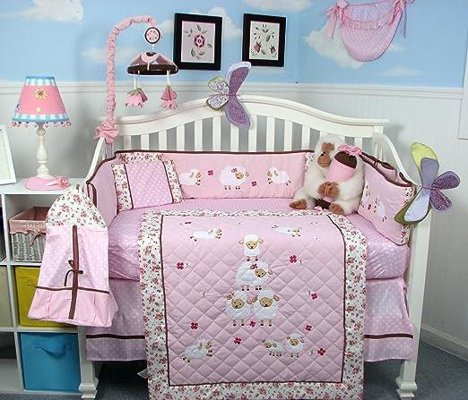 Amazon.com : SOHO Wolly Sheeps Crib Nursery Bedding Set 14 pcs : Sheep Baby Bedding : Baby