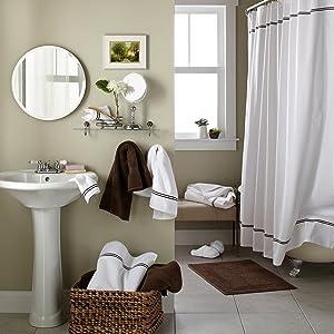 100% organic cotton shower curtain