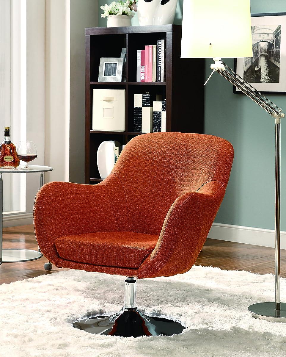 Retro Swivel Chair Orange