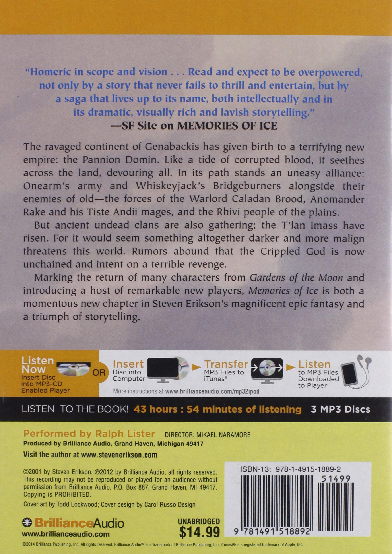 Buy Memories Of Ice (malazan Book Of The Fallen) Book Online At Low Prices  In India  Memories Of Ice (malazan Book Of The Fallen) Reviews & Ratings