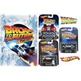 Back to the Future Trilogy DVD with Hot Wheels Retro Entertainment 1:64 Die-Cast Trilogy (Delorean Time Machine/Time Machine Hover Mode/1955 Delorean) Bundle