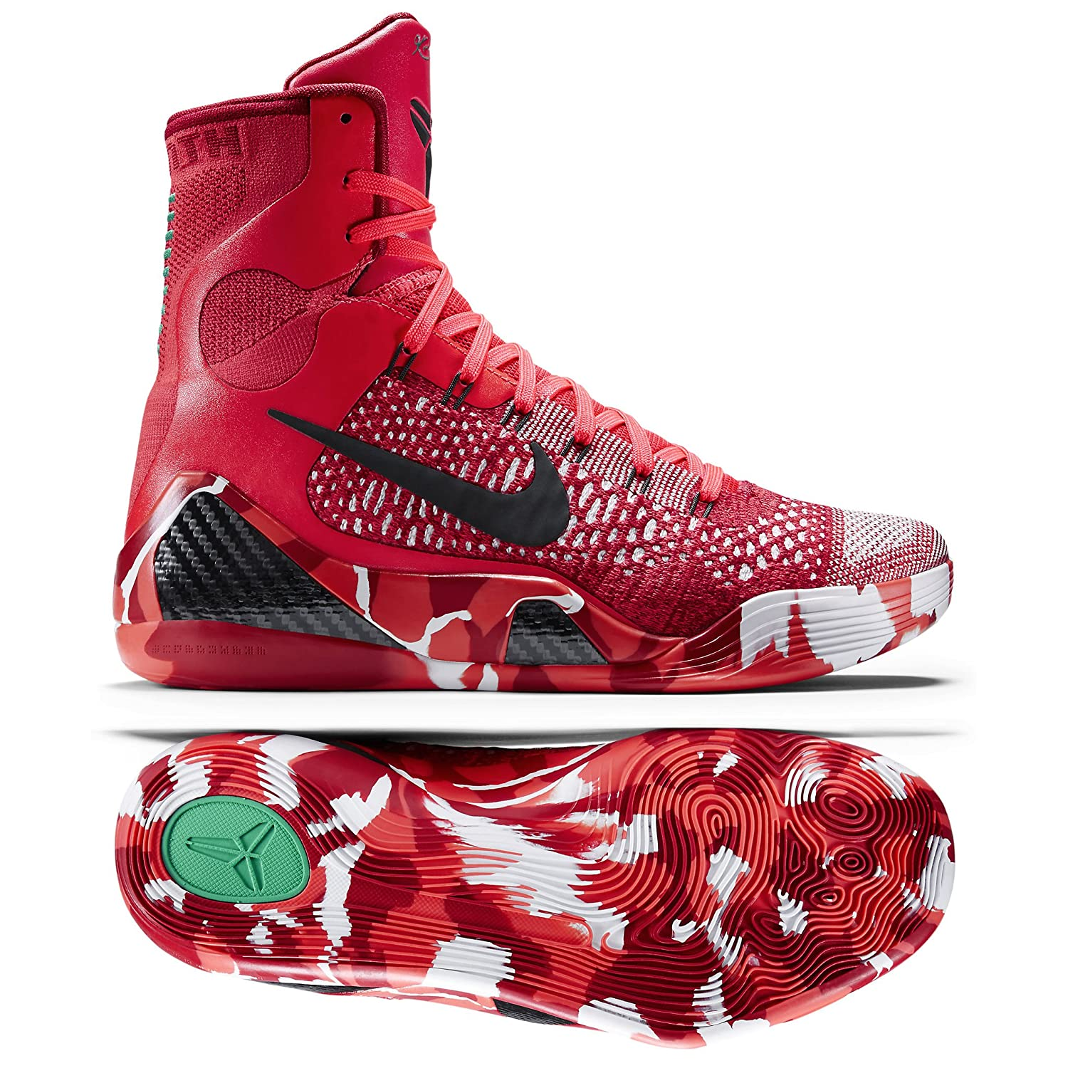 3bd25c9b2c5 Images for Nike Kobe IX 9 Elite Strategy Knit Stocking 630847-600 Crimson  Flyknit Men