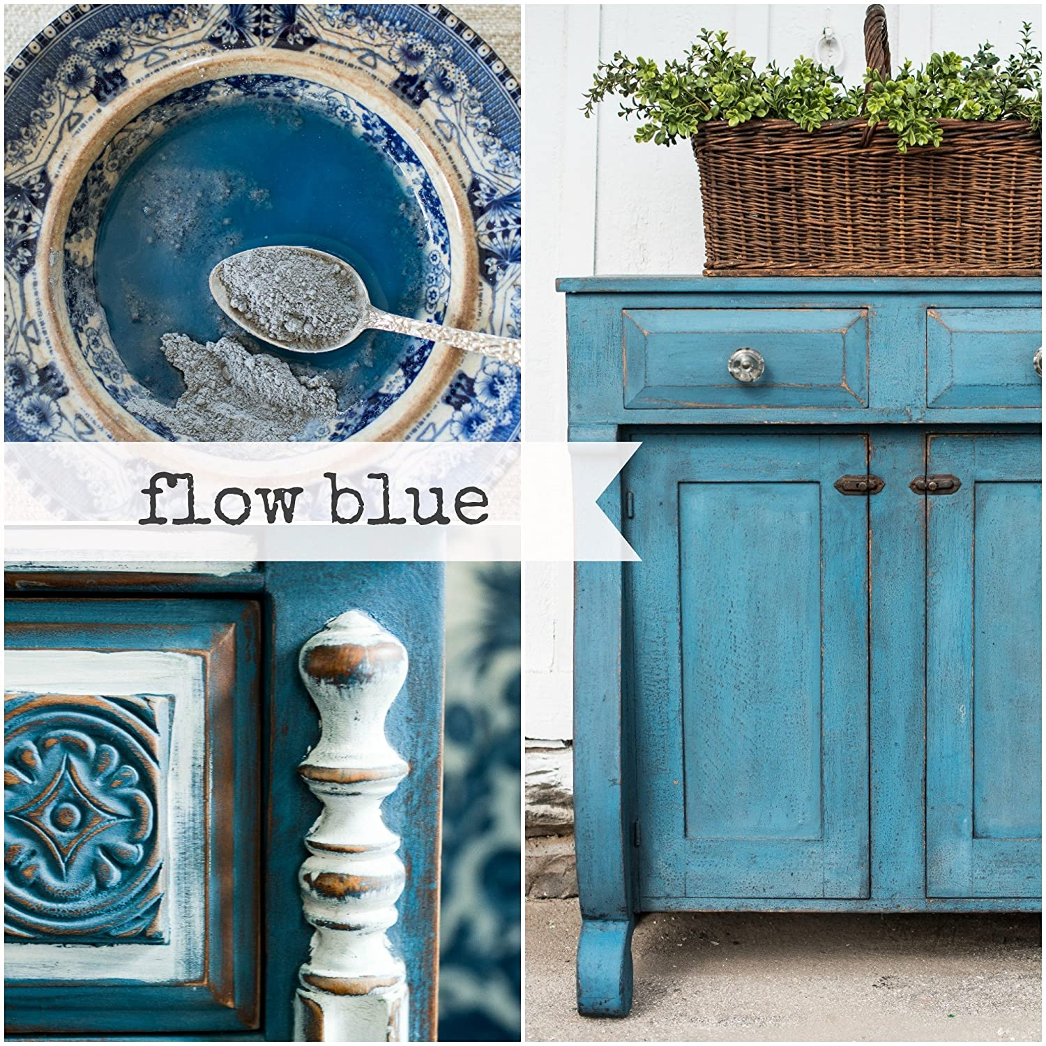 Miss Mustard Seed Milk Paint (Flow Blue) by Homestead House Paint Co