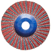 "Norton RedHeat Abrasive Flap Disc, Type 27, 5/8"" Arbor, Ceramic and Zirconia Alumina, 4"" Diameter, Grit 40 (Pack of 10)"