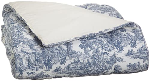 victoria park toile bed comforter blue