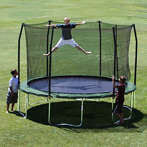 Skywalker Trampolines Green 16 Foot Oval Trampoline With: Skywalker Trampolines 12-Feet Round Trampoline And