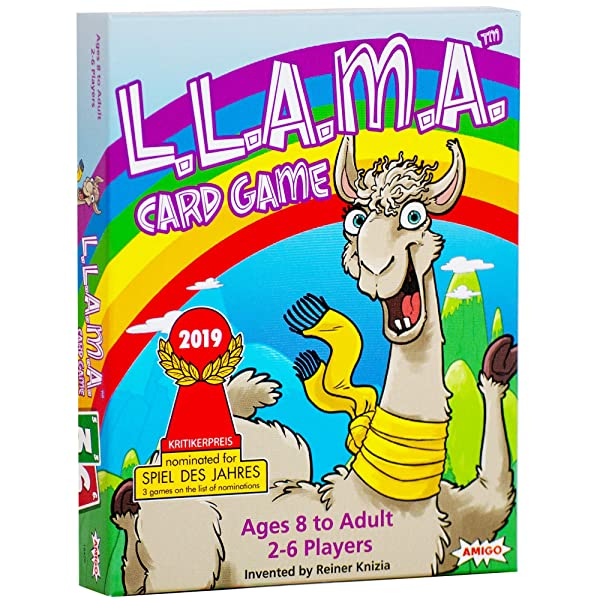 AMIGO Games L.A.M.A. Llama-Themed Family Card Game Nominated for The Spiel Des Jahres (Game of The Year)