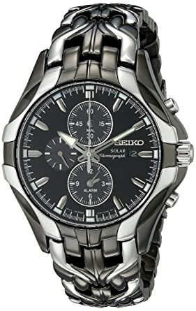 buy seiko men s ssc139 excelsior gunmetal and silver tone seiko men s ssc139 excelsior gunmetal and silver tone stainless steel solar watch