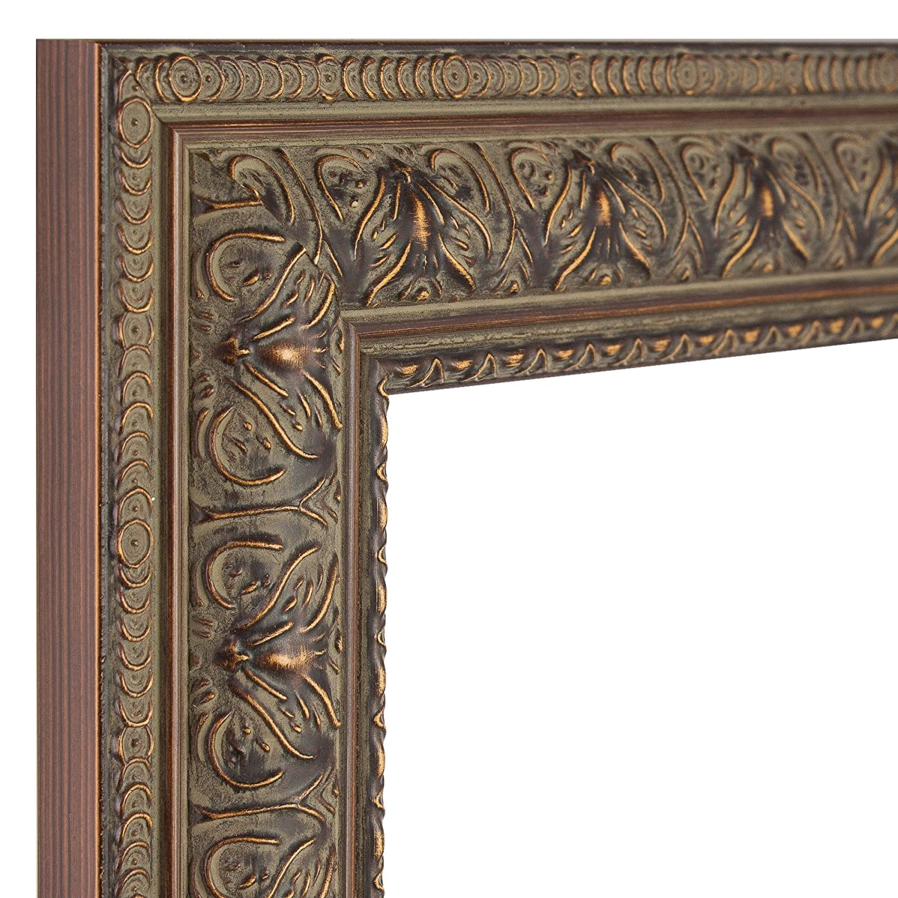 Craig Frames 9535 8 by 12-Inch Picture Frame, Antique Ornate Finish, 1.5-Inch Wide, Aged Mahogany 1
