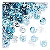Creative Converting 21090 Metallic Confetti Swirls, Pastel Blue - 021090