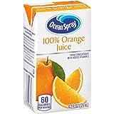 Ocean Spray 100% Orange Juice, 4.2 Ounce Juice Box (Pack of 40) (Tamaño: Pack of 40)