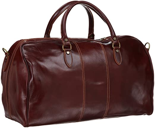 Floto Luggage Venezia Duffle, Vecchio Brown, One Size