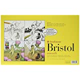 Strathmore 346-1 Paper 300 Series Sequential Art Bristol, Smooth, 11 x 17 Inches, White 24 Sheets (Color: White, Tamaño: 11 x 17 Inches)