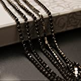 USIX 10 Yards Crystal Rhinestone Close Chain Trimming Claw Chain Multi Size Color Rhinestone Chain for DIY Arts Craft Sewing Jewelry Making, Jet-Black Chain, SS12/3.0MM (Color: Jet-Black Chain, Tamaño: SS12/3.0MM)