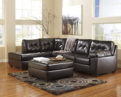 Alliston DuraBlend Sectional Chocolate/Left Arm Facing Chaise