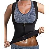 GAODI Women Waist Trainer Sauna Vest Slim Corset Neoprene Cincher Tank Top Weight Loss Body Shaper (L, Black)