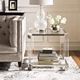 Safavieh SFV2528A Home Collection Gianna Glass End Table Clear (Color: Clear)