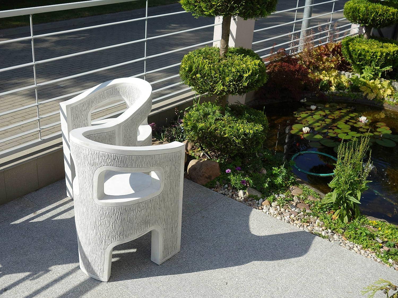 Herrlicher Gartenstuhl Stuhl modern aus Steinguss, frostfest günstig kaufen