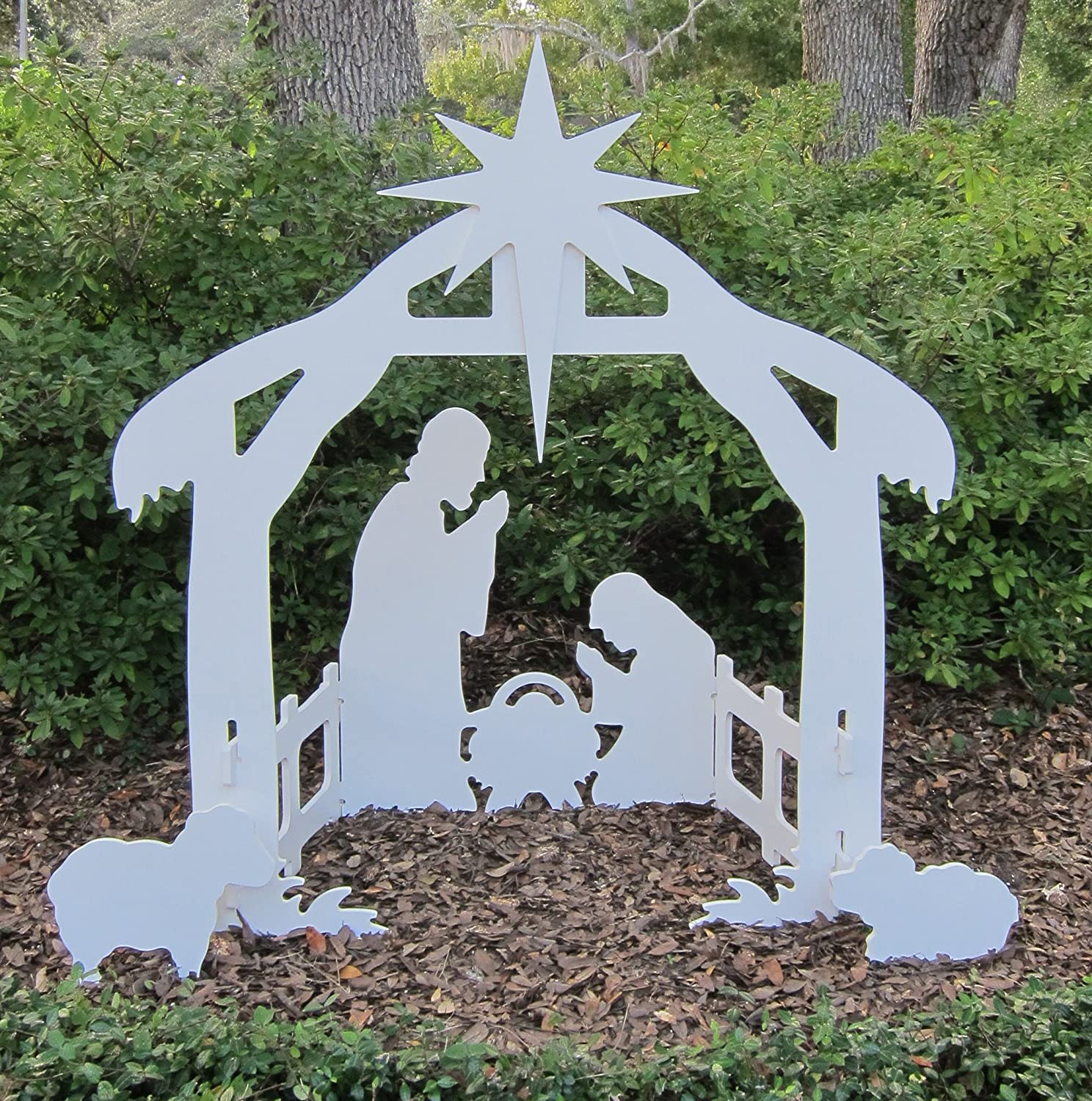 Nativity Scene Outdoor Christmas Decoration: Christmas Garden Decorations: Santa, Deer, Nativity Sets