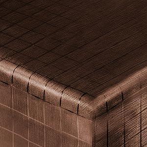 Festliche Wachstischdecke Block | kaffeefarben glänzend | abwaschbar | Meterware (2000x137cm)  BaumarktKritiken und weitere Informationen