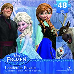 Disney Frozen Lenticular Puzzle (48-Piece)