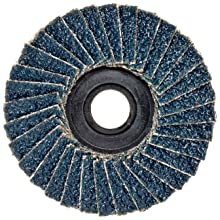 "Weiler BobCat 2"" Diameter, 40 Grit, Zirconium, Plastic Backing, Type 29 Specialty Abrasive Flap Mini Disc"