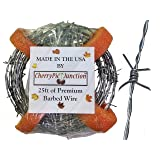 Craft & Yard Real Barbed Wire - 18 Gauge 4 PT - (25 Feet) Light Duty - More Flexible - Made in USA (Tamaño: 25 feet)
